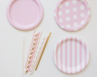 24 Mix and Match, Choose your Colors Paper Plates