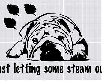 Instant Pot Decal - Just letting some steam out Bulldog