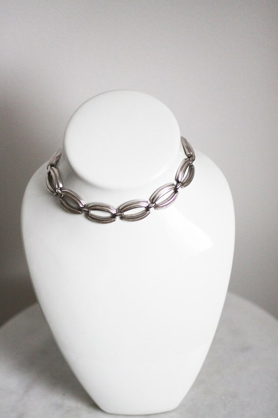 1980s silver link chain necklace // 1980s chain // vintage jewlery