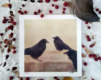 """Gossip, Art card print 5x5"""""""