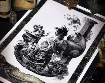 "Fairytale Art - ""The Elixir of youth for springs eternal"" - (the Elixir of youth, for eternal spring) - FINE - ART Print A4"