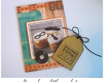 Father's Day card in 3D - Gourmet candy