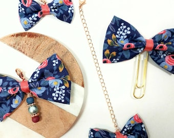 Rifle Paper Co Floral Fabric Planner Charm and Paper Clip