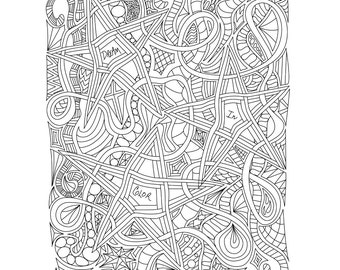 Adult Coloring Pages: Doodles 3 pages