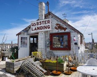 Lobster Landing, Clinton, Connecticut icon, seafood, New England, coastal, seashore, cottage decor, beach house decor, archival signed print