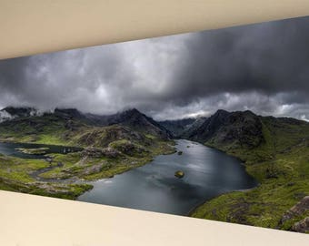 Panorama Canvas Wall Art - Lakes, Mountains & Clouds [A13] - choice of size