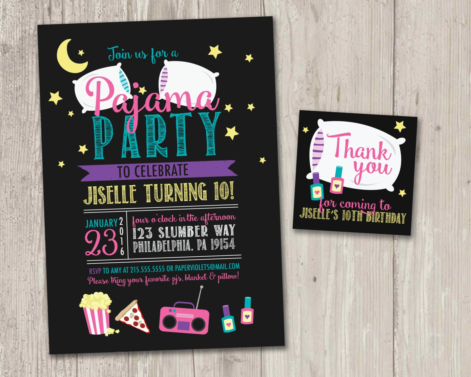 Best Pajama Party Invitation Gallery - Invitation Card Ideas ...