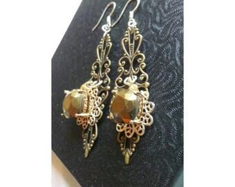 Bronze Crystal earrings