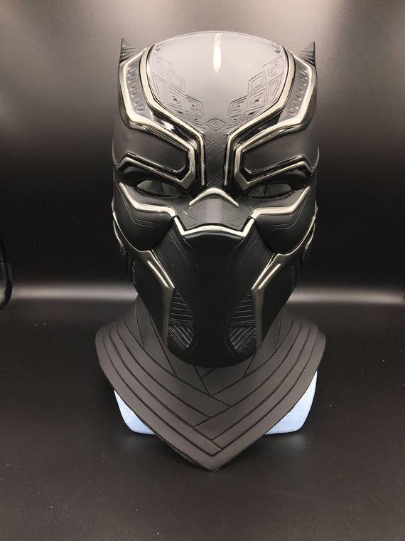 black panther helm mit halsst ck lebensgro e skala voll muster