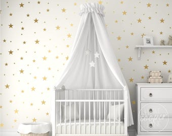 Stars Wall Decal Vinyl Stickers | 1, 2 or 3 Multi Colour | 3 Sizes_2.5cm-5cm-7.5cm | For Baby Boys or Girls Nursery, Kids Room