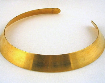 "3/4"" x 12 3/4"" brass collar blank"