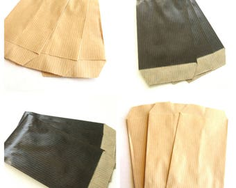 100 pouches 7 cm * 11 cm Kraft gift bags