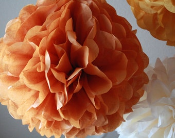 Tissue Paper Pom Pom - Large Burnt Orange Pom