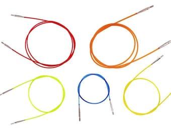 "32"" Orange Knitter's Pride Interchangable Cord for Karbonz, Platina, Cubics, Royale, Dreamz"