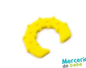 Yellow - shape semicircle - C32 - J5 decorative element