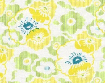 "End of Bolt-1 yard 32""-Heather Bailey's Nicey Jane, Washday Ticking in Dandelion"