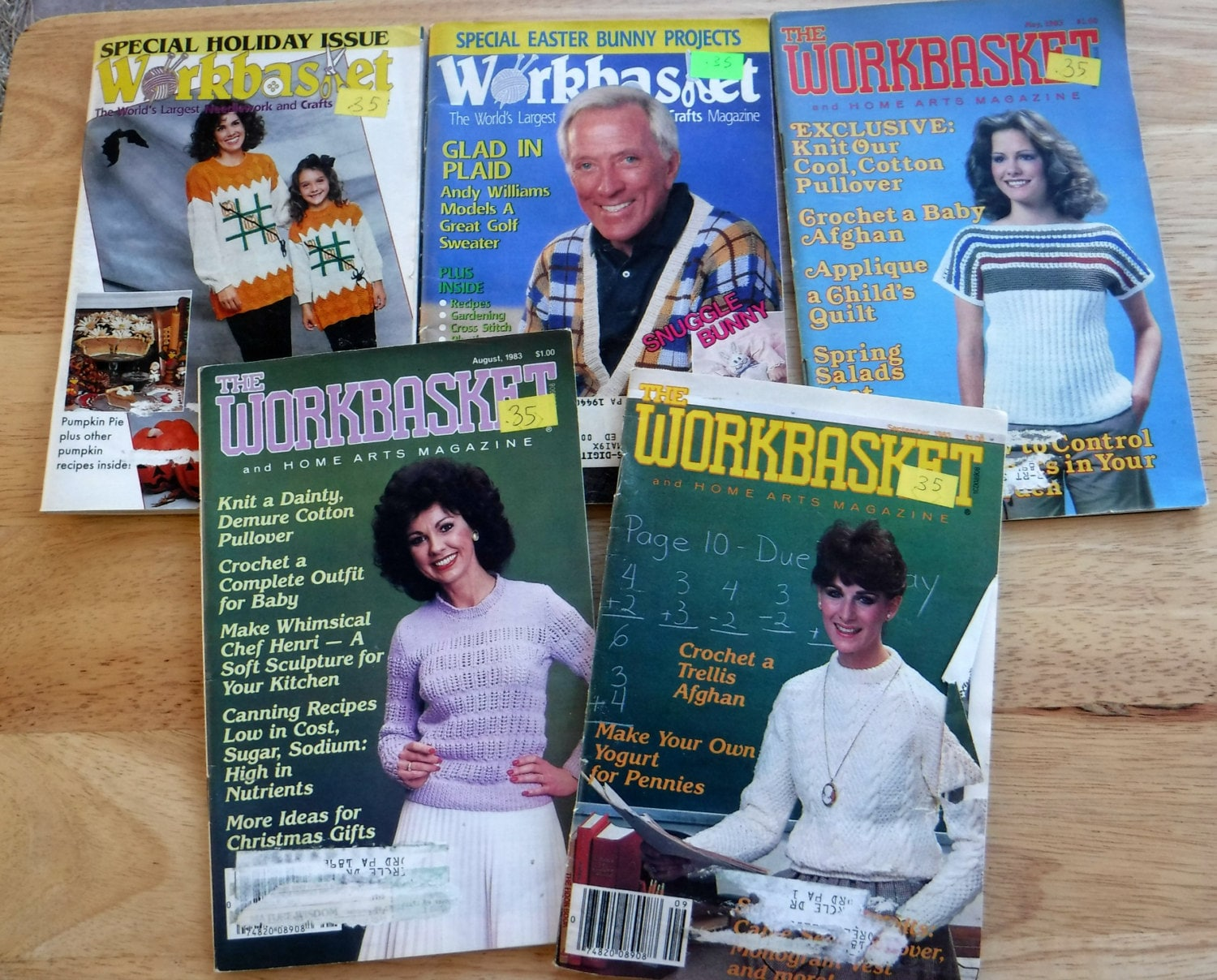 Lot of 20 1980s 1990s The workbasket and home arts magazine, vintage ...