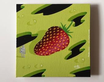 Temptation, surreal acrylic painting