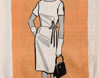"Vintage Sheath Dress Pattern Retro Dress Pattern MAIL ORDER 9160 bust 39"" Wiggle Dress Pattern 1960s Dress Pattern Straight Dress 60s Dress"