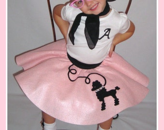 Adorable Toddler Custom Made LuLu poodle skirt Your choice of Size and Color 0-12mos,1t-2t,3t-4t Prices from 20.00 and up!