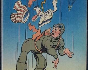 Vintage Linen WWII Humor Postcards Unused Lot of 4