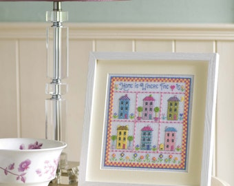 Home Is Where The Heart Is Sampler Cross Stitch Chart Download