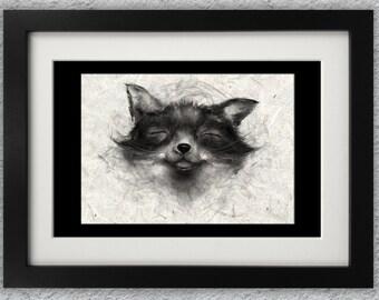 Cheeky Fox Print