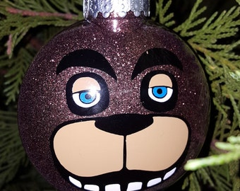 Freddy 5 Nights At Freddy's Face Parody Christmas Holiday Ornament  * Add Year and/or Name for FREE to back  * 5NAF * Five * FNAF