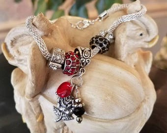 Just Charming Bracelet with Rose Charm
