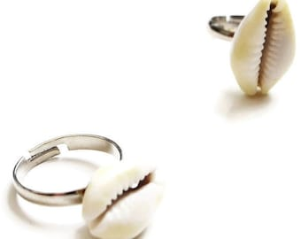 Cowrie Shell Ring Adjustable