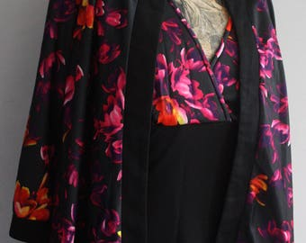 Vintage Dress, 1970s Dress, Floral Dress, Dress with Jacket, Pink Floral, 1970's Maxi, Maxi Dress,  Classic Vintage, Vintage Maxi 1970