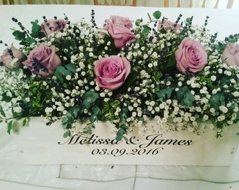 Engraved Wedding Flower Table Top Display Stand Shabby Chic