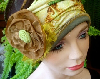 womens hat autumn floral chemo hat lightweight  chemo headcover chemotherapy