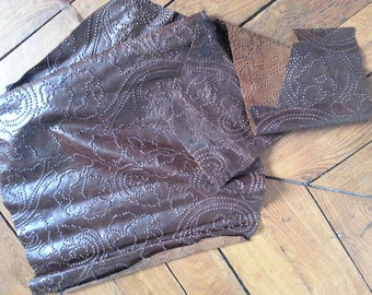 scarified leather brown