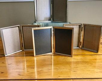 Brass Frames Gold Frames Picture Frame 3.5x5 Picture Frame Wedding Frame Table Number Holders Table Number Frames Double Frame Vintage Frame