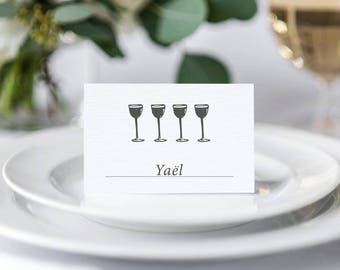 Passover Seder Place Cards - Printable