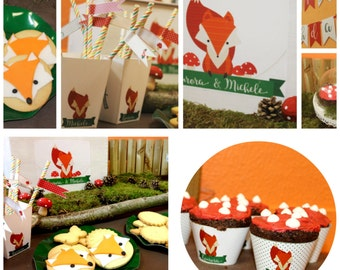 WOODLAND party: printable birthday package