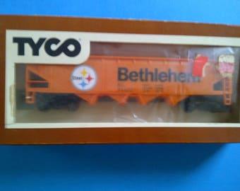 Tyco HO train car Bethleham Steel new in box