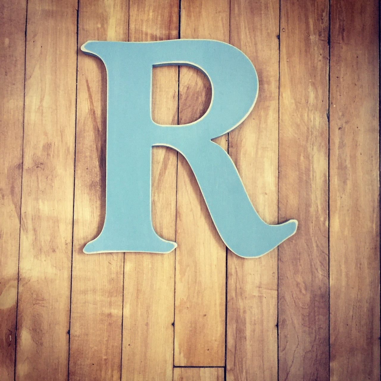 Wooden Wall Letter R - Painted Letter - Caxton Font - Various sizes ...