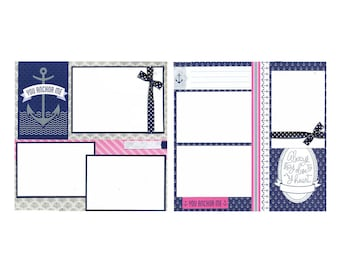 You Anchor Me - Premade Scrapbook Page Set