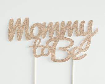 Mommy to be cake topper.  Baby shower cake topper.