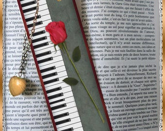 "Laminated bookmarks ""Sonata"", bookmark, gift"
