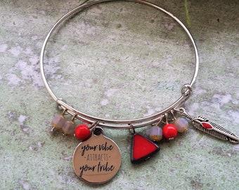 Good vibes bracelet, Friendship gift bracelet,Gifts for Friend, Positive energy, Yoga gift, Yoga bracelet,friends birthday gift,friends