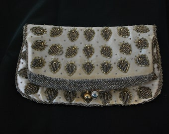 Vintage Hand Beaded Clutch