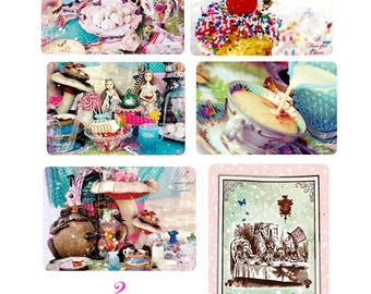 Mad Tea Party - Assorted 12 Postcard Set -
