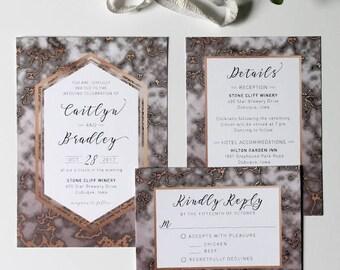 Marble Invitation, Custom Wedding, Printable Wedding Invitation Set, Digital Wedding Invite, Wedding Suite, Marble Wedding, Calligraphy