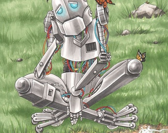 Sad Robot 11 X 17 Art Print