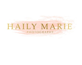 Pre-made Logo Design & Photography Watermark - Watercolor logo - Gold Logo - Watermark Design - Photography Logo - Premade Logo Design 641