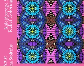 Kaleidoscope Stress Relief Coloring Book PDF 50 Coloring Pages