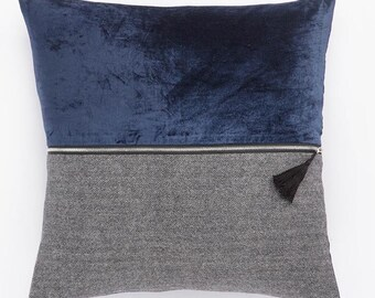 Color Block Pillow- Navy